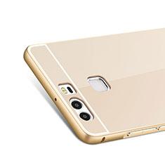 Schutzhülle Luxus Aluminium Metall Rahmen für Huawei P9 Plus Gold