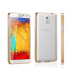 Schutzhülle Luxus Aluminium Metall Rahmen für Samsung Galaxy Note 3 N9000 Gold