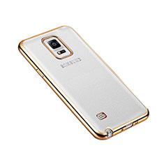 Schutzhülle Luxus Aluminium Metall Rahmen für Samsung Galaxy Note 4 Duos N9100 Dual SIM Gold