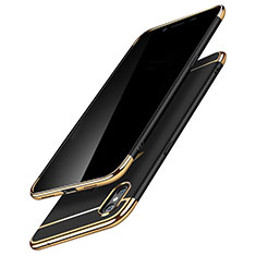 Schutzhülle Luxus Metall Rahmen und Kunststoff C01 für Apple iPhone Xs Max Schwarz