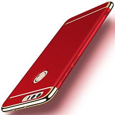 Schutzhülle Luxus Metall Rahmen und Kunststoff für Huawei Honor 8 Rot