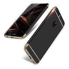 Schutzhülle Luxus Metall Rahmen und Kunststoff für Huawei Honor 8 Schwarz