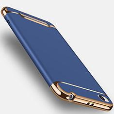 Schutzhülle Luxus Metall Rahmen und Kunststoff für Xiaomi Redmi 4A Blau