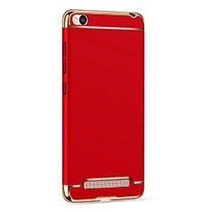 Schutzhülle Luxus Metall Rahmen und Kunststoff für Xiaomi Redmi 4A Rot