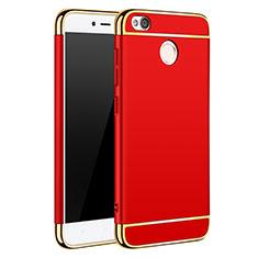 Schutzhülle Luxus Metall Rahmen und Kunststoff für Xiaomi Redmi 4X Rot