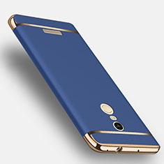Schutzhülle Luxus Metall Rahmen und Kunststoff für Xiaomi Redmi Note 3 Blau