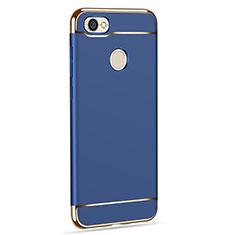 Schutzhülle Luxus Metall Rahmen und Kunststoff für Xiaomi Redmi Y1 Blau