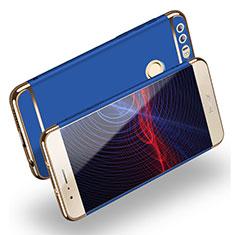 Schutzhülle Luxus Metall Rahmen und Kunststoff M01 für Huawei Honor 8 Blau