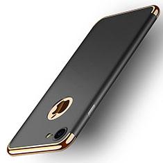 Schutzhülle Luxus Metall Rahmen und Kunststoff M02 für Apple iPhone 7 Schwarz