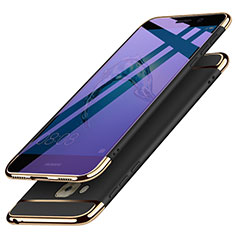 Schutzhülle Luxus Metall Rahmen und Kunststoff M02 für Huawei G9 Plus Schwarz