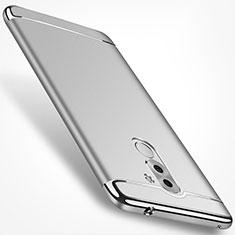 Schutzhülle Luxus Metall Rahmen und Kunststoff M02 für Huawei Honor 6X Silber