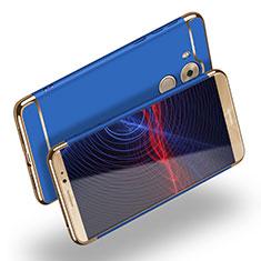 Schutzhülle Luxus Metall Rahmen und Kunststoff M02 für Huawei Mate 8 Blau
