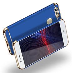 Schutzhülle Luxus Metall Rahmen und Kunststoff M02 für Huawei Nova 2 Plus Blau