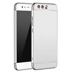 Schutzhülle Luxus Metall Rahmen und Kunststoff M02 für Huawei P10 Silber