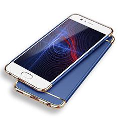 Schutzhülle Luxus Metall Rahmen und Kunststoff M02 für Huawei P9 Blau