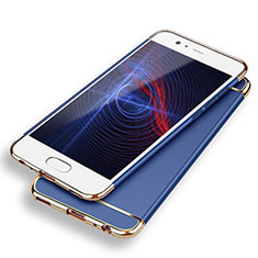 Schutzhülle Luxus Metall Rahmen und Kunststoff M02 für Huawei P9 Plus Blau