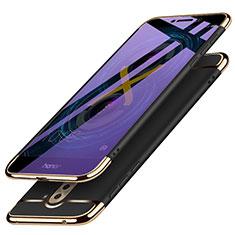 Schutzhülle Luxus Metall Rahmen und Kunststoff M03 für Huawei Honor 6X Schwarz