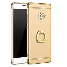 Schutzhülle Luxus Metall Rahmen und Kunststoff mit Fingerring Ständer für Xiaomi Mi Note 2 Special Edition Gold