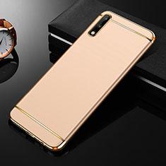 Schutzhülle Luxus Metall Rahmen und Kunststoff Schutzhülle Tasche M01 für Huawei Enjoy 10 Gold