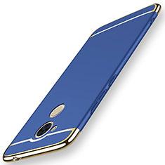 Schutzhülle Luxus Metall Rahmen und Kunststoff Schutzhülle Tasche M01 für Huawei Enjoy 6S Blau