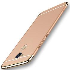Schutzhülle Luxus Metall Rahmen und Kunststoff Schutzhülle Tasche M01 für Huawei Enjoy 6S Gold