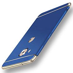 Schutzhülle Luxus Metall Rahmen und Kunststoff Schutzhülle Tasche M01 für Huawei G7 Plus Blau