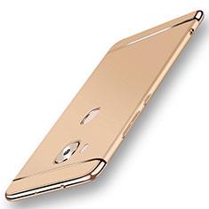 Schutzhülle Luxus Metall Rahmen und Kunststoff Schutzhülle Tasche M01 für Huawei G7 Plus Gold