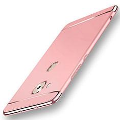 Schutzhülle Luxus Metall Rahmen und Kunststoff Schutzhülle Tasche M01 für Huawei G7 Plus Rosegold