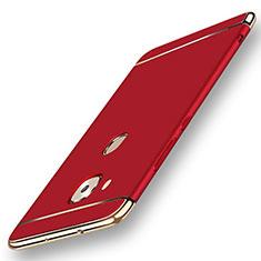 Schutzhülle Luxus Metall Rahmen und Kunststoff Schutzhülle Tasche M01 für Huawei G7 Plus Rot