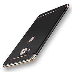 Schutzhülle Luxus Metall Rahmen und Kunststoff Schutzhülle Tasche M01 für Huawei G7 Plus Schwarz