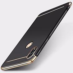 Schutzhülle Luxus Metall Rahmen und Kunststoff Schutzhülle Tasche M01 für Huawei Honor 10 Lite Schwarz