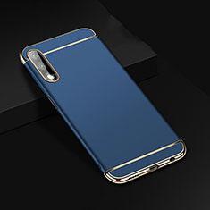 Schutzhülle Luxus Metall Rahmen und Kunststoff Schutzhülle Tasche M01 für Huawei Honor 9X Blau