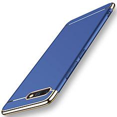 Schutzhülle Luxus Metall Rahmen und Kunststoff Schutzhülle Tasche M01 für Huawei Honor V10 Blau