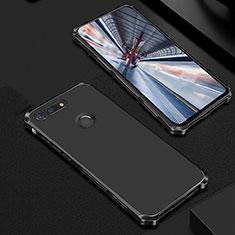 Schutzhülle Luxus Metall Rahmen und Kunststoff Schutzhülle Tasche M01 für Huawei Honor V20 Schwarz