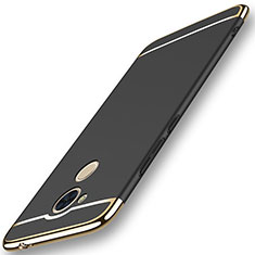 Schutzhülle Luxus Metall Rahmen und Kunststoff Schutzhülle Tasche M01 für Huawei Honor V9 Play Schwarz