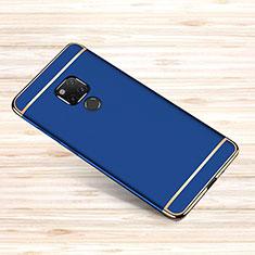 Schutzhülle Luxus Metall Rahmen und Kunststoff Schutzhülle Tasche M01 für Huawei Mate 20 X 5G Blau