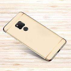 Schutzhülle Luxus Metall Rahmen und Kunststoff Schutzhülle Tasche M01 für Huawei Mate 20 X 5G Gold