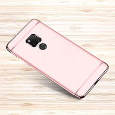 Schutzhülle Luxus Metall Rahmen und Kunststoff Schutzhülle Tasche M01 für Huawei Mate 20 X 5G Rosegold