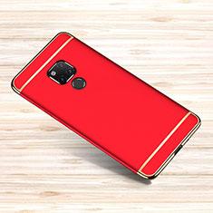 Schutzhülle Luxus Metall Rahmen und Kunststoff Schutzhülle Tasche M01 für Huawei Mate 20 X 5G Rot
