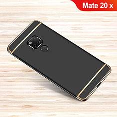 Schutzhülle Luxus Metall Rahmen und Kunststoff Schutzhülle Tasche M01 für Huawei Mate 20 X 5G Schwarz