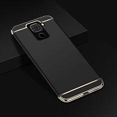 Schutzhülle Luxus Metall Rahmen und Kunststoff Schutzhülle Tasche M01 für Huawei Mate 30 Lite Schwarz