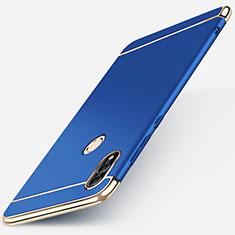 Schutzhülle Luxus Metall Rahmen und Kunststoff Schutzhülle Tasche M01 für Huawei P Smart (2019) Blau