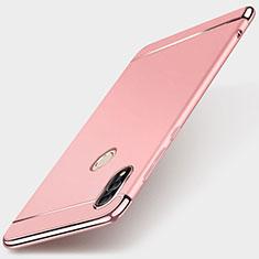 Schutzhülle Luxus Metall Rahmen und Kunststoff Schutzhülle Tasche M01 für Huawei P Smart (2019) Rosegold