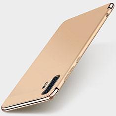 Schutzhülle Luxus Metall Rahmen und Kunststoff Schutzhülle Tasche M01 für Huawei P30 Pro Gold
