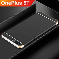 Schutzhülle Luxus Metall Rahmen und Kunststoff Schutzhülle Tasche M01 für OnePlus 5T A5010 Schwarz