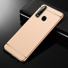 Schutzhülle Luxus Metall Rahmen und Kunststoff Schutzhülle Tasche M01 für Oppo A8 Gold