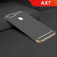 Schutzhülle Luxus Metall Rahmen und Kunststoff Schutzhülle Tasche M01 für Oppo AX7 Schwarz