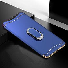 Schutzhülle Luxus Metall Rahmen und Kunststoff Schutzhülle Tasche M01 für Oppo Find X Blau