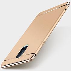 Schutzhülle Luxus Metall Rahmen und Kunststoff Schutzhülle Tasche M01 für Oppo R17 Pro Gold