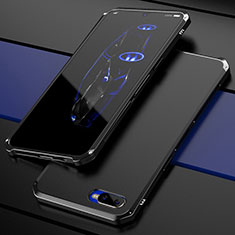 Schutzhülle Luxus Metall Rahmen und Kunststoff Schutzhülle Tasche M01 für Oppo RX17 Neo Schwarz